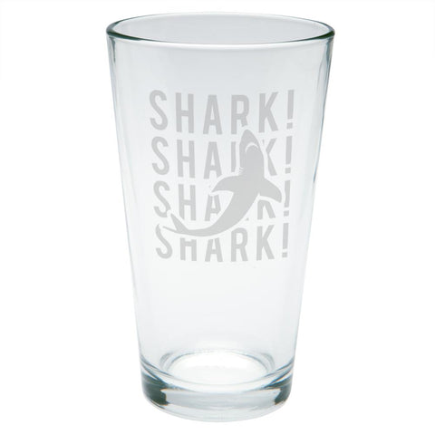 Shark Stack Repeat Etched Pint Glass