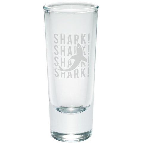 Shark Stack Repeat Etched Shot Glass Shooter