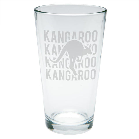 Kangaroo Stack Repeat Etched Pint Glass