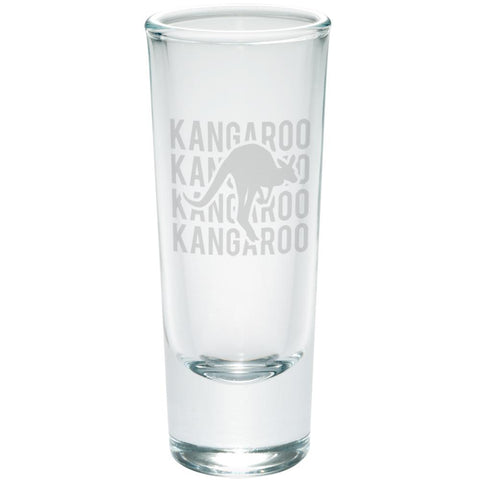 Kangaroo Stack Repeat Etched Shot Glass Shooter