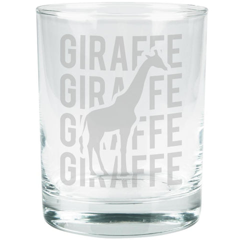 Giraffe Stack Repeat Etched Glass Tumbler