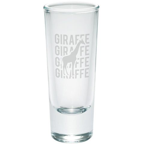 Giraffe Stack Repeat Etched Shot Glass Shooter
