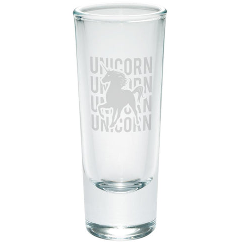 Unicorn Stack Repeat Etched Shot Glass Shooter