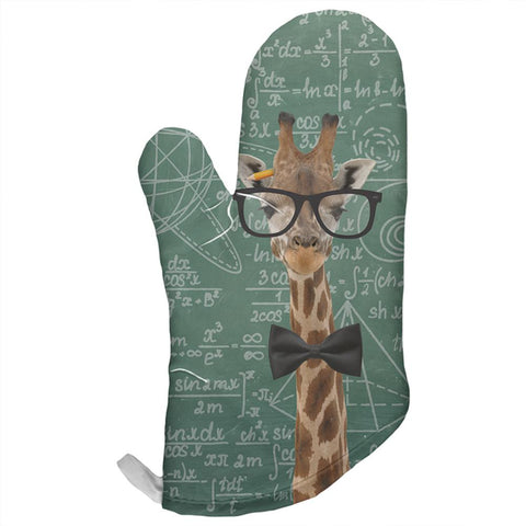 Giraffe Math Geek Formulas All Over Oven Mitt