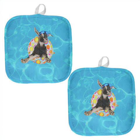 Whatever Floats Your Goat All Over Pot Holder (Set of 2)