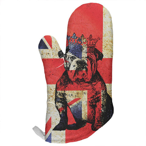British Bulldog Crown Grunge Flag All Over Oven Mitt