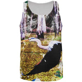 Great Blue Heron Abstract Paint All Over Mens Tank Top