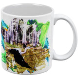 Great Blue Heron Abstract Paint All Over Coffee Mug