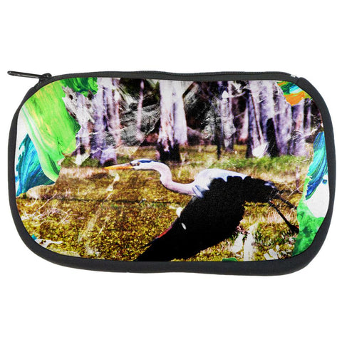Great Blue Heron Abstract Paint Travel Bag