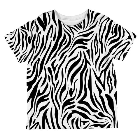 Zebra Stripes Pattern All Over Toddler T Shirt