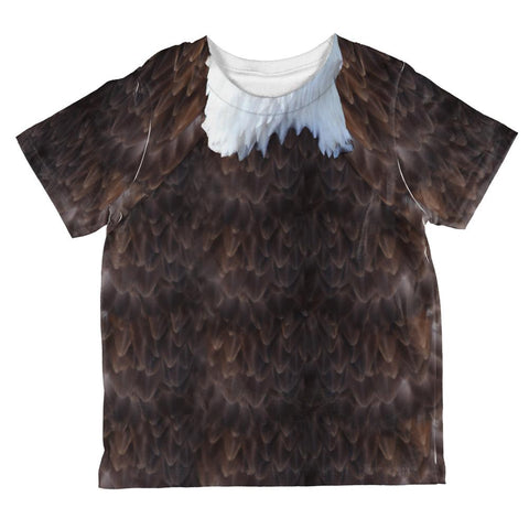 Halloween Bald Eagle Costume All Over Toddler T Shirt