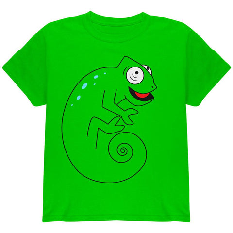 Chameleon Spiral Tail Youth T Shirt