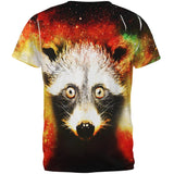 Galaxy Trash Panda Raccoon All Over Mens T Shirt