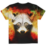 Galaxy Trash Panda Raccoon All Over Youth T Shirt