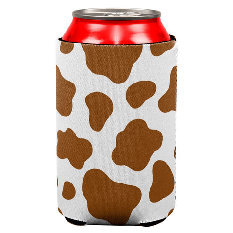Brown Spot Cow All Over Can Cooler