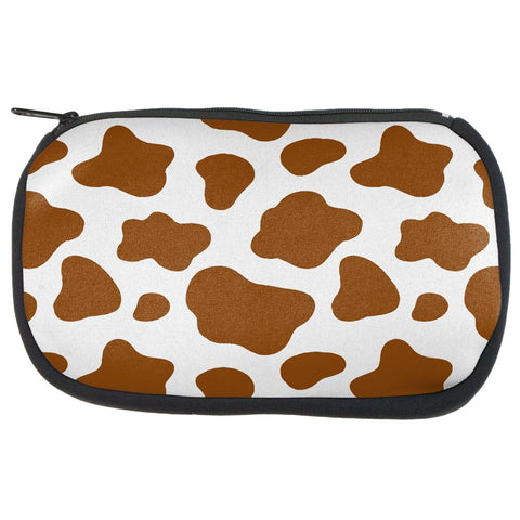 Brown Spot Cow Makeup Bag