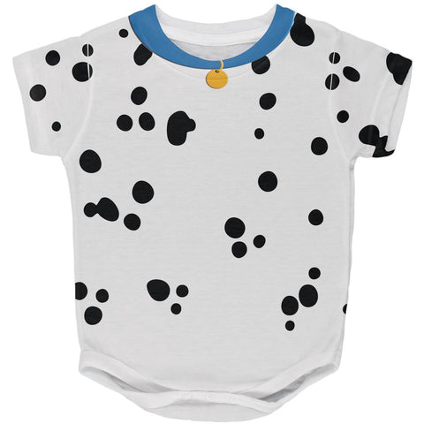 Halloween Dog Dalmatian Costume Blue Collar All Over Baby One Piece