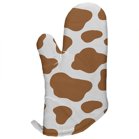 Brown Spot Cow All Over Oven Mitt