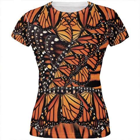 Halloween Monarch Butterfly Costume All Over Juniors T Shirt