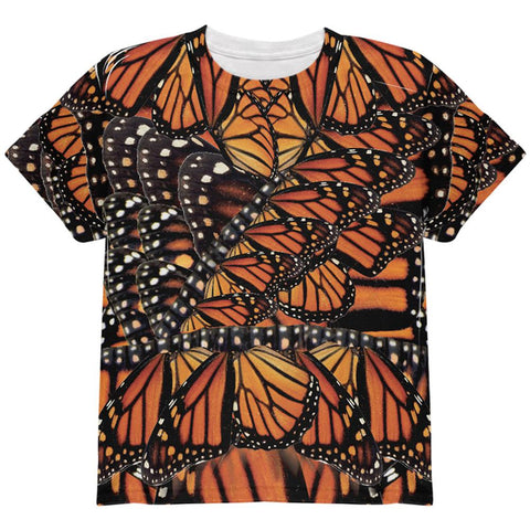 Halloween Monarch Butterfly Costume All Over Youth T Shirt