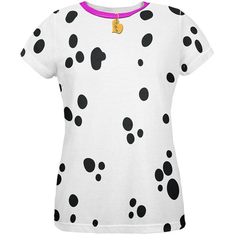 Valentine's Day Dog Dalmatian Costume Pink Collar Be Mine All Over Womens T Shirt