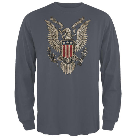 4th Of July Born Free Vintage American Eagle Mens Long Sleeve T Shirt