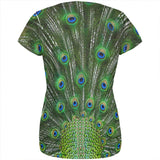 Halloween Peacock Feathers Costume All Over Womens T Shirt