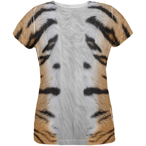 Halloween Tiger Costume All Over Womens T Shirt