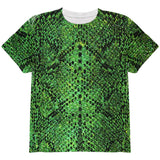 Halloween Green Snake Snakeskin Costume All Over Youth T Shirt