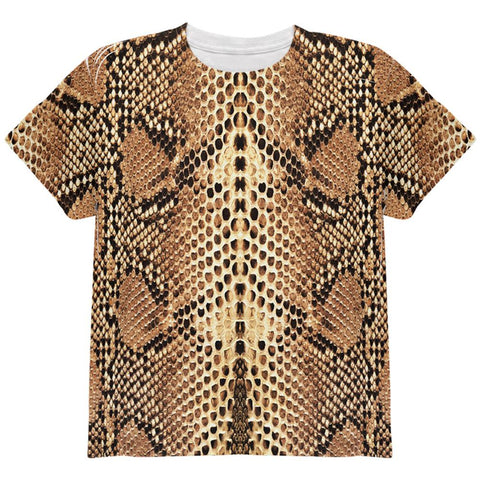 Halloween Rattlesnake Snake Snakeskin Costume All Over Youth T Shirt