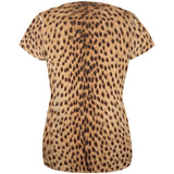 Halloween Cheetah Costume All Over Womens T Shirt