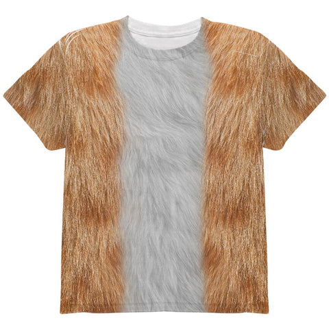 Halloween Orange Cat Costume All Over Youth T Shirt