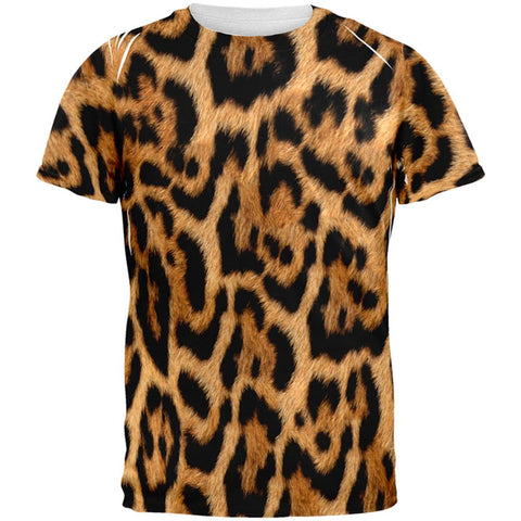 Halloween Leopard Print Costume All Over Mens T Shirt