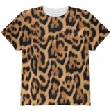 Halloween Leopard Print Costume All Over Youth T Shirt