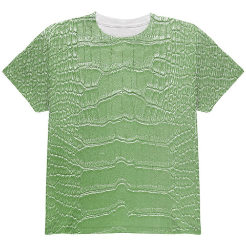 Halloween Alligator Costume All Over Youth T Shirt