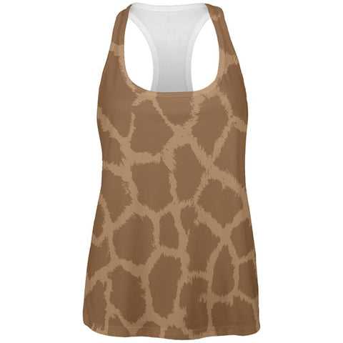 Halloween Giraffe Pattern Costume All Over Womens Work Out Tank Top
