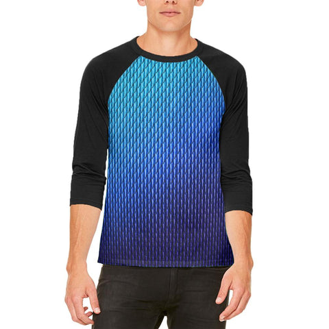 Halloween Blue Ice Dragon Scales Costume Mens Raglan T Shirt