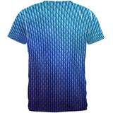Halloween Blue Ice Dragon Scales Costume All Over Mens T Shirt