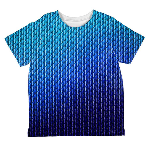 Halloween Blue Ice Dragon Scales Costume All Over Toddler T Shirt