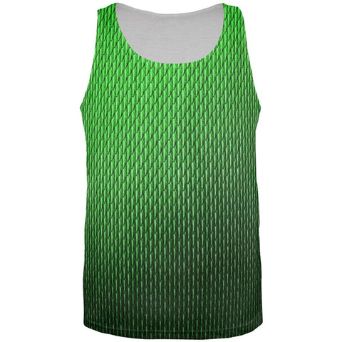 Halloween Green Earth Dragon Scales Costume All Over Mens Tank Top