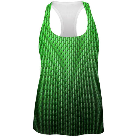 Halloween Green Earth Dragon Scales Costume All Over Womens Work Out Tank Top