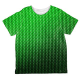 Halloween Green Earth Dragon Scales Costume All Over Toddler T Shirt