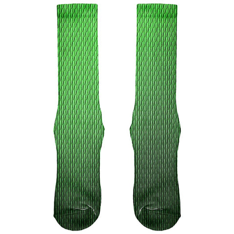 Halloween Green Earth Dragon Scales Costume All Over Soft Socks