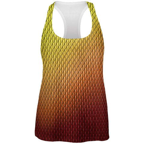 Halloween Red Fire Dragon Scales Costume All Over Womens Work Out Tank Top