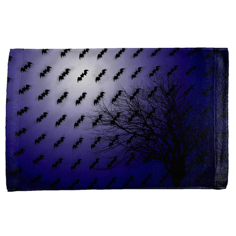 Halloween Bats in the Full Moon Light All Over Hand Towel