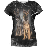 German Shepherds Live Forever All Over Womens T Shirt