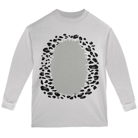 Halloween Snow Leopard Costume Youth Long Sleeve T Shirt