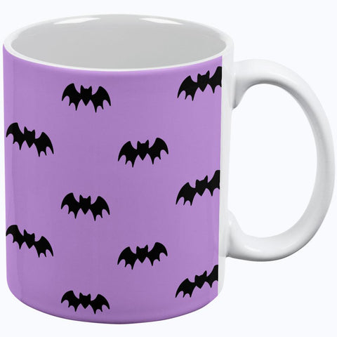 Halloween Bats Pattern All Over Coffee Mug