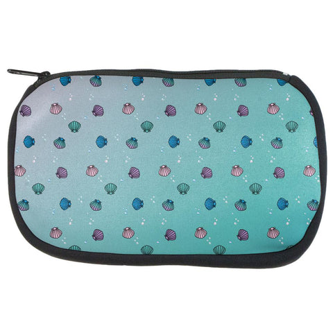 Mermaid Shells Bubbles Pattern Multi Makeup Bag