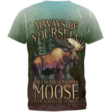Always Be Yourself Unless Moose All Over Mens T Shirt